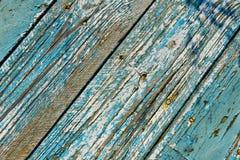 Blått staket med band Fotografering för Bildbyråer