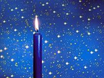 blått stearinljus arkivfoto