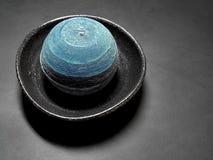 blått stearinljus Arkivbilder