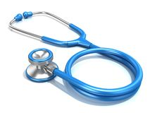 blått stetoskop Arkivfoton