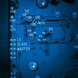 Blått strömkretsharddiskbräde Arkivbilder