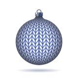 Blått stucken julboll. vektor illustrationer