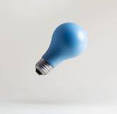 Blått sväva för ljusa kulor Arkivbild