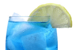 blått svalna drinkisberget Royaltyfria Bilder