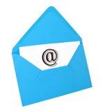 blått symbol för korte-postkuvert Arkivbild