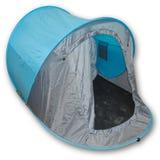 Blått tält Royaltyfri Foto