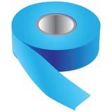 Blått tejpar för att måla Fotografering för Bildbyråer