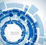 blått tekniskt för abstrakt bakgrund stock illustrationer