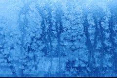 Blått texturerad bakgrund för snöflingarimfrost abstrakt begrepp Royaltyfri Bild