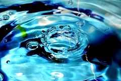 blått texturvatten Arkivbilder