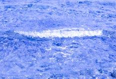 blått texturvatten Royaltyfri Foto