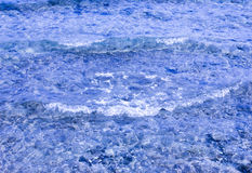 blått texturvatten Arkivbild