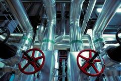 Blått tonad inre industriell bakgrund Royaltyfri Fotografi