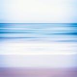 Blått tonad Seascape Arkivfoton