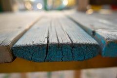 Blått träbrädetexturträ royaltyfri foto