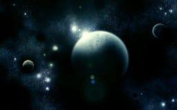 blått triumvirateuniversum Arkivfoto