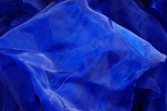 blått tyg Royaltyfria Foton