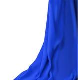 Blått tyg för gardin Arkivbilder