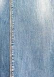 Blått tyg för grov bomullstvill för grundprodukten Arkivbild
