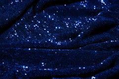blått tyg med paillettes För en glamorös angelägenhet sport detta royaltyfria bilder