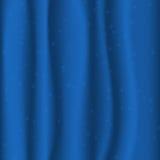 Blått tyg med stjärnor Royaltyfri Fotografi