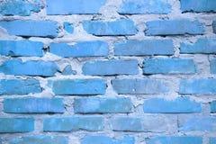 Blått väggtegelstenarbete royaltyfria bilder