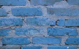Blått väggtegelstenarbete Arkivbilder