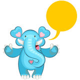 blått välkomna för elefant Royaltyfri Foto