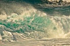 Blått vågavbrott Arkivbilder
