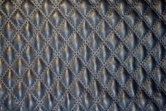 Blått vadderat läder Royaltyfri Foto