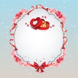 Blått valentinkort Arkivfoton