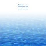 blått vatten Royaltyfria Foton