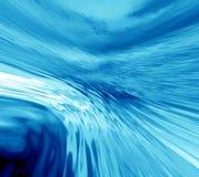 blått vatten för abstraktion Arkivfoton