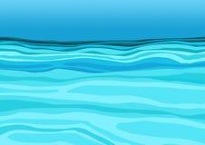 Blått vatten i havsdesignbakgrunden vektor illustrationer