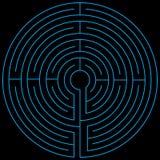 Blått vectorized för labyrint Arkivbild