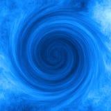 Blått virvlar runt abstrakt bakgrund Arkivfoton