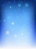 Blåttbakgrund med snowflakes Fotografering för Bildbyråer