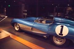 BlåttChevrolet Corvette toppen sport 1956 SS Arkivfoton