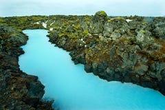 Blåttlagunen i Island royaltyfria foton