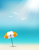 Blåtthav, Sky & moln royaltyfri illustrationer