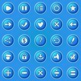 Blåttknappar för leken UI vektor illustrationer