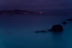 Blåttnatt Fotografering för Bildbyråer
