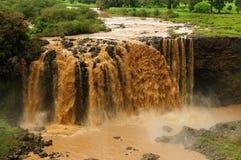 BlåttNile nedgångar i Etiopien Arkivbilder