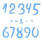 Blåttnummer och tecken Royaltyfri Bild