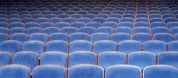 Blåttplatser i teater Royaltyfria Bilder