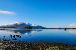 Blått landskap Royaltyfri Fotografi