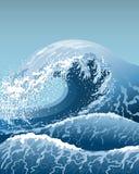Blåttvågor Arkivbild