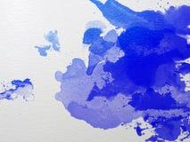 Blåttvattenfärg Arkivbilder