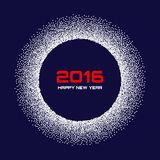 Blåvit för snöflinga för nytt år 2016 bakgrund Arkivbild