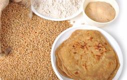 Blé - chapati et farine photo libre de droits